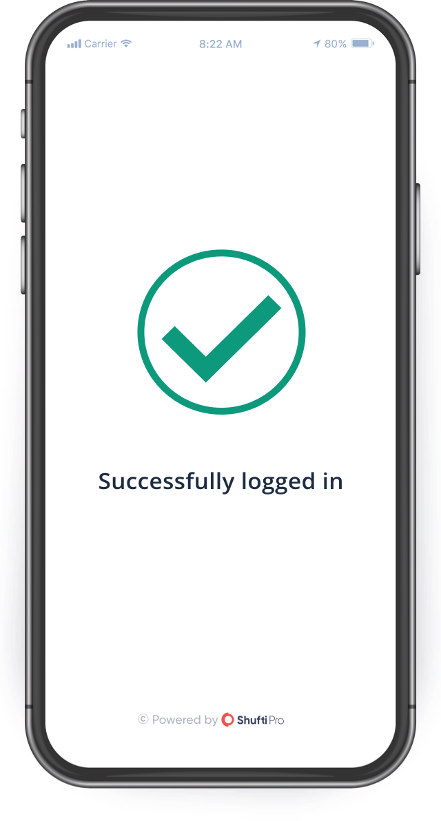 mobile successful logged in