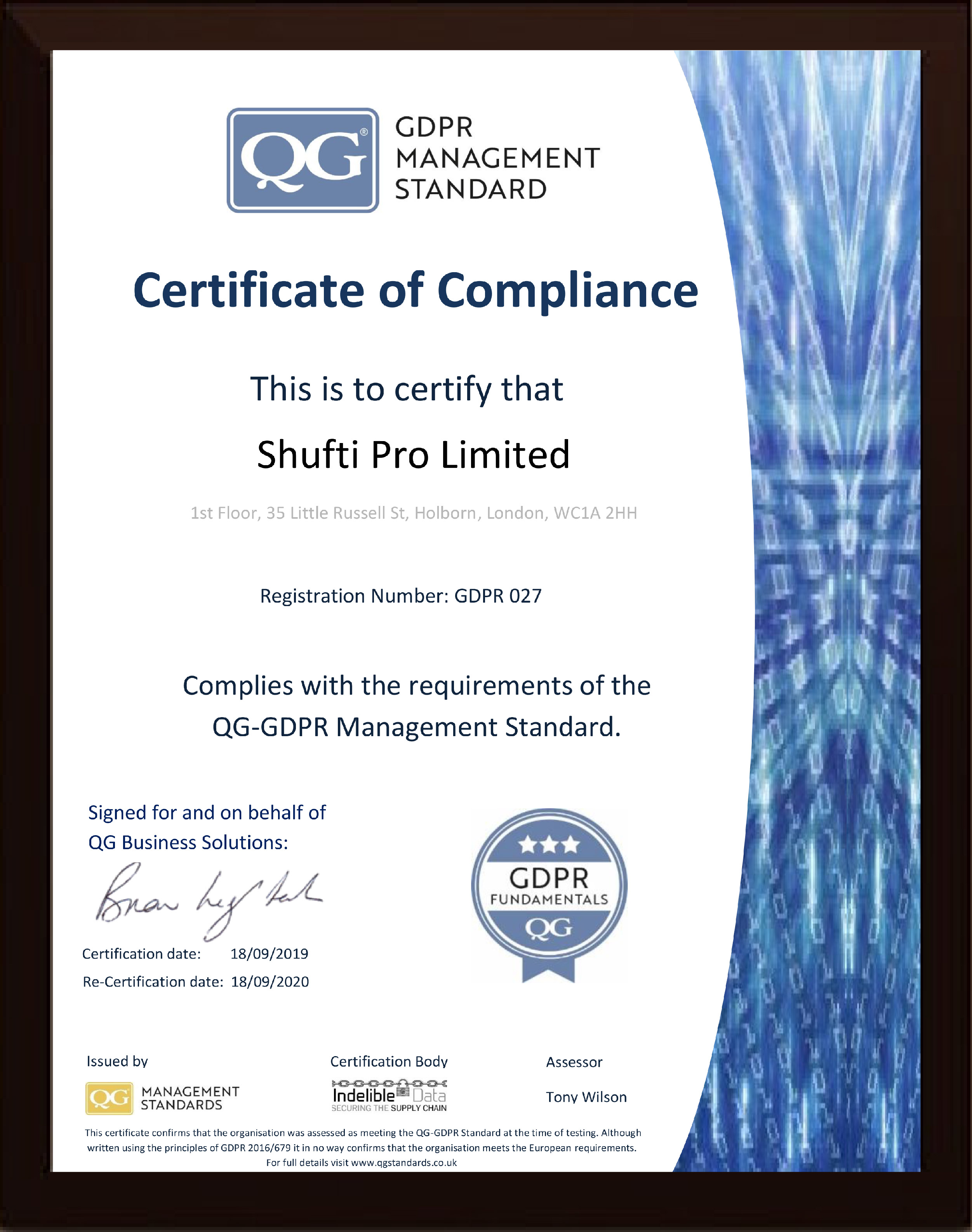 Another Feather in the Cap - Shufti Pro Becomes Guild Certified