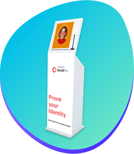 identity authentication with touchless kiosk
