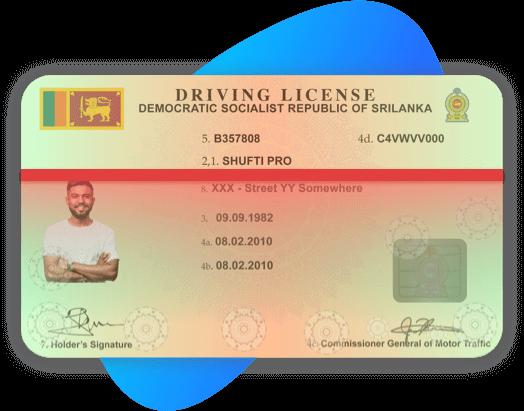 Sri lanka Driving License