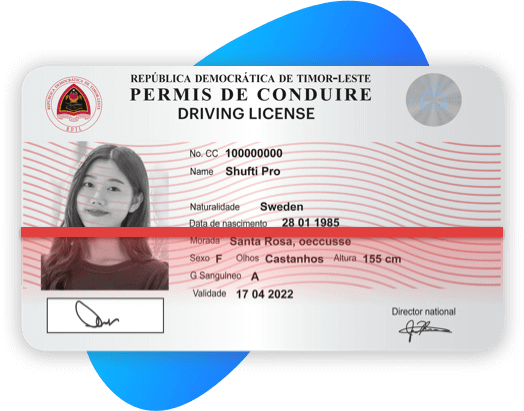 Timor lesta Driving License