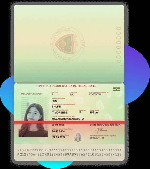 Timor lesta Passport