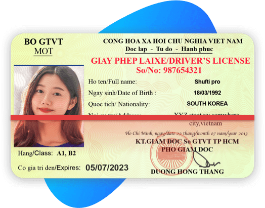 Vietnam Driving License