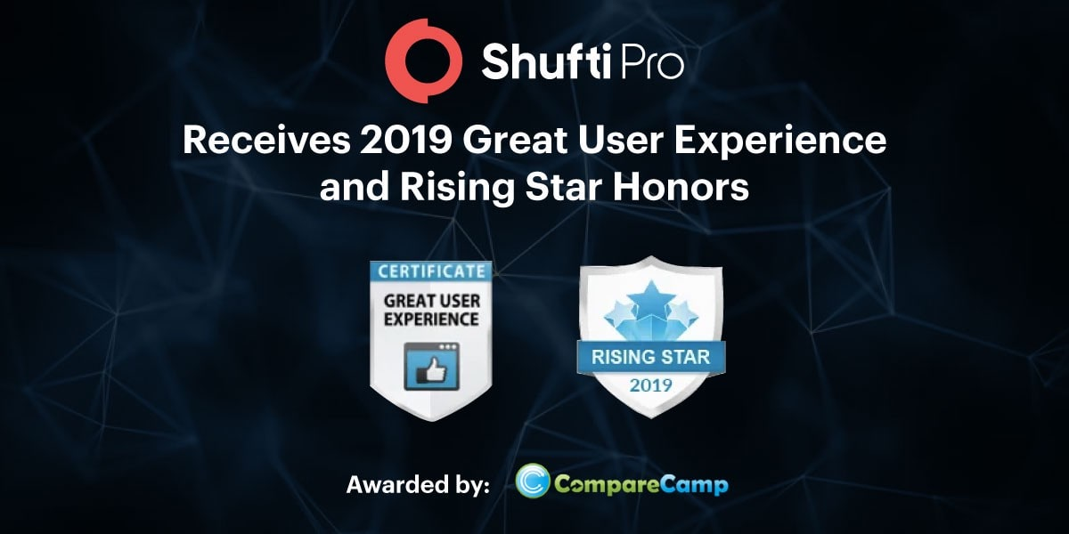 Shufti Pro Receives 2019 Great User Experience and Rising Star Honors as a Verification Identity Service in B2B Review Platform