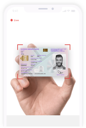 Scanning of ID card and details on it for authentication