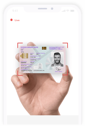 show the identity document for verification